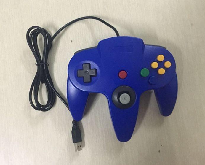 NUOVO sistema di joystick per controller di gioco lunghi per console Nintendo 64 N64 e confezione