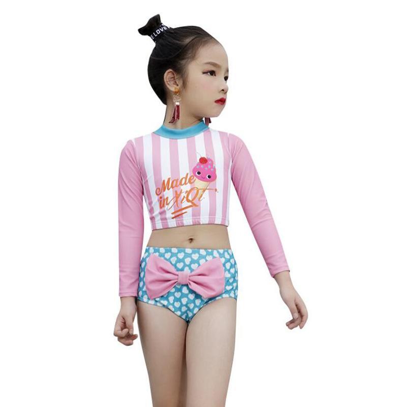 0039ea1b2641 Sunny Eva Girl Traje de baño para niños Natación en la playa Traje  deportivo de May-Female-Beach para niños Bikini de manga larga Chica