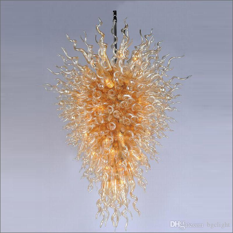 2019 the best new Designed Blown Glass Chandelier Lightings Customized Colored Handmade Blown Glass Pendant Lights for Wedding Decor