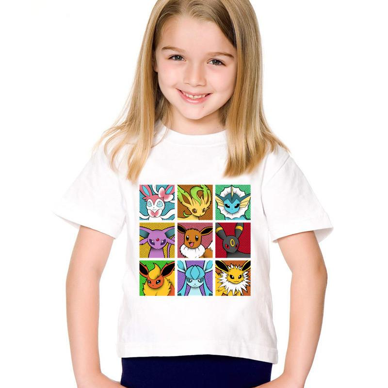 Pop Eeveelutions good Go Children T-shirts Kids Go Spirits Gotta Fit Them All Summer Tee Boys/Girls Tops Baby Clothes,HKP5091