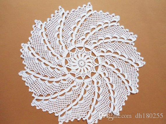 2019 Crochet Doily, White Doily, Lace Tablecloth, Wedinng Centerpiece,  Round Doilies, Large Doily, 17 From Dh180255, $19.1 | DHgate.Com