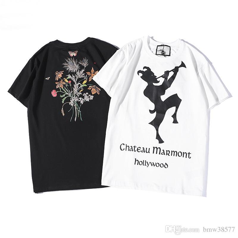 Compre Promoción 2019 Nuevas Letras Imprimir Camisetas Hombre Mujer Polos  Ocasionales Camisetas Manga Corta Camiseta Moda Marca Camiseta es Envío De  La Gota ... 52d6ef1375ad1