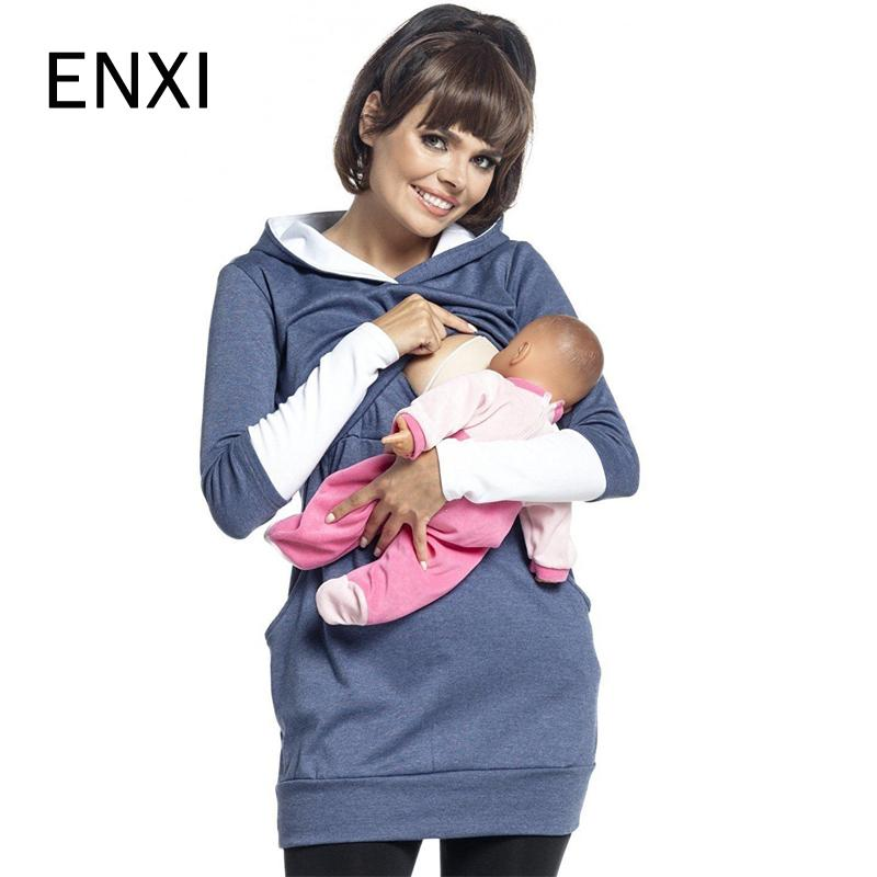 ff56cd8955f 2019 ENXI For Breast Feeding Clothes Autumn And Winter Nursing Tops Long  Sleeve For Pregnant Women Maternity Women Sport Clothing From Gaozang, ...