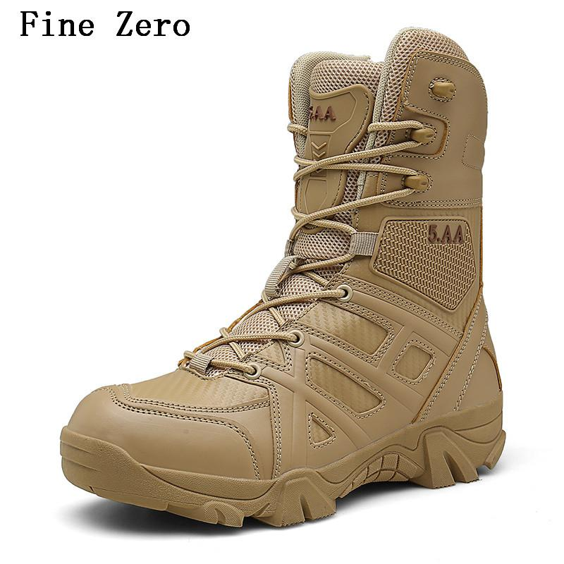 bab9b297ff6 New Men High Quality Brand Leather Boots Special Force Tactical Desert  Combat Men S Boots Outdoor Shoes Ankle Ankle Boots Cowboy Boots From  Clownie