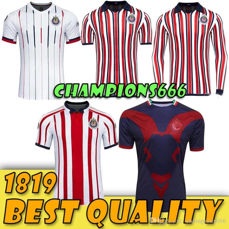competitive price f4c05 1af7b Top quality 2019 chivas club world cup soccer jersey Home Away football  shirt 18 19 liga mx guadalajara camisetas de futbol