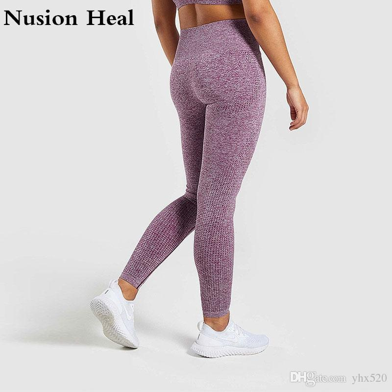 e8113dc177f7a 2019 2019 Women Sports Gym Yoga Pants Compression Tights OMBRE Seamless  Pants Stretchy High Waist Run Fitness Leggings Hip Push Up #908163 From  Yhx520, ...