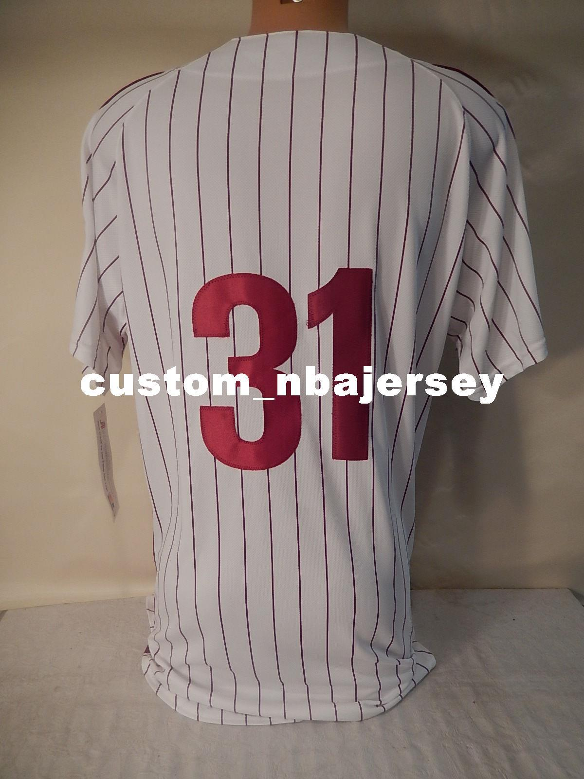 Cheap Custom GARRY MADDOX baseball jersey WHITE Stitched Retro Mens jerseys Customize any name number XS-5XL