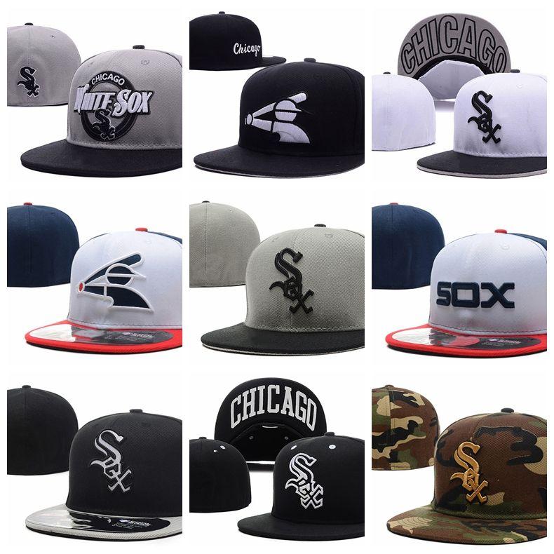 780df50e 2019 New Fashion Mens White Sox Baseball caps Hip Hop Cap Casual Bones  Gorras women Fitted Hats