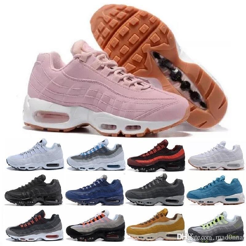 2019 Nike air max airmax 95 Recién llegado Calzado oficial oficial Originales 95 AIR Hombres Mujeres Zapatillas de skate transpirables eur 36 45. .