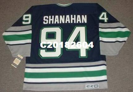 Mens   94 BRENDAN SHANAHAN Hartford Whalers 1995 CCM Vintage RETRO Home  Hockey Jersey Or Custom Any Name Or Number Retro Jersey UK 2019 From  C20182604 9c868a8c2