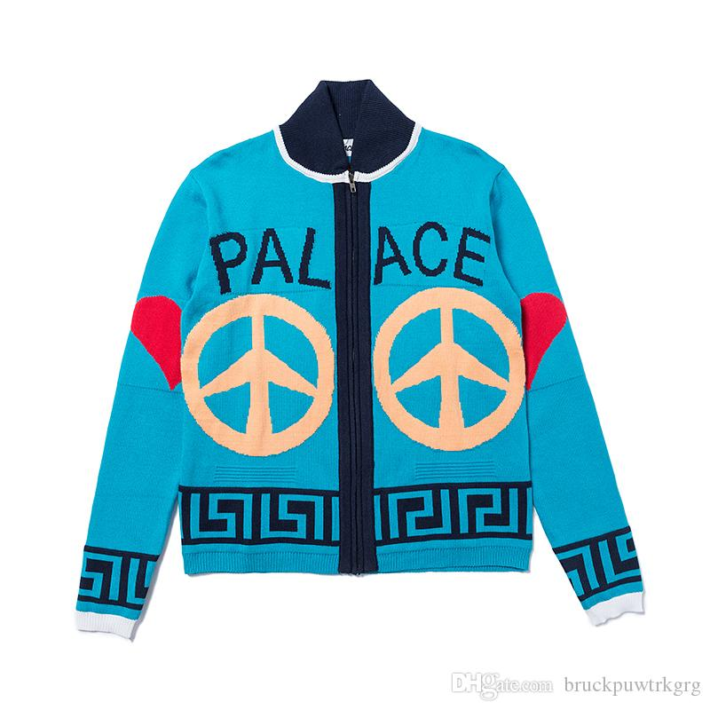 Platziert Peace Out Knit 18FW Jacke Peace Dove Men and Women Cardigan Strickpullover Jacke S-XL