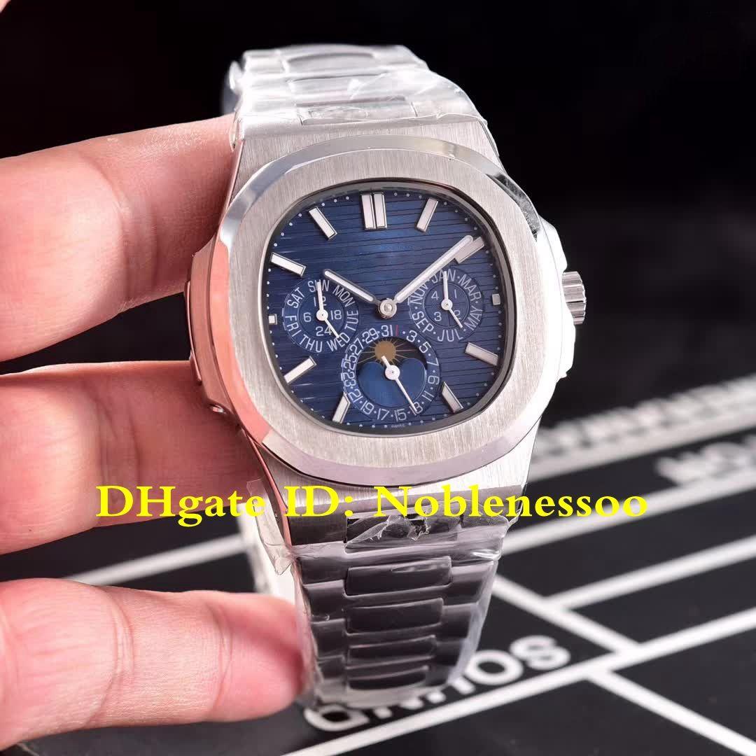 637a27f8c0f Compre 4 Cores Top Relógio De Pulso De Luxo Mens Watch Mostrador Azul  Nautilus Lua Fase 5740   1g 001 316l Pulseira De Aço Relógios Mecânicos  Automáticos ...