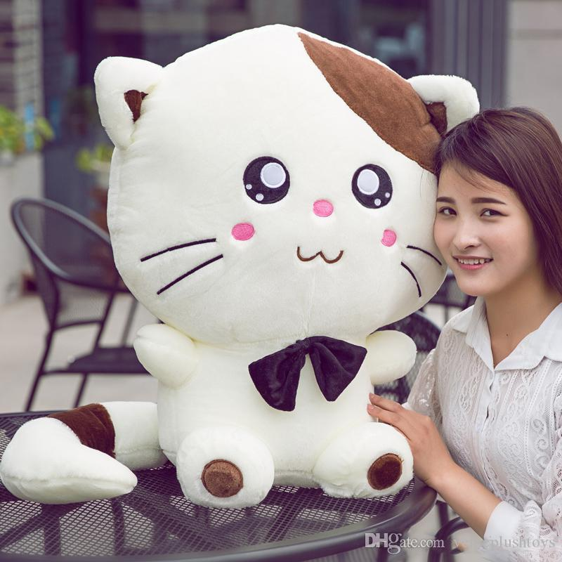 Kawaii Cartoon Fat Cat Plush Doll Big Stuffed Anime Kitten Toy Pillow for Kids Adults Gift Decoration 70cm 28inch
