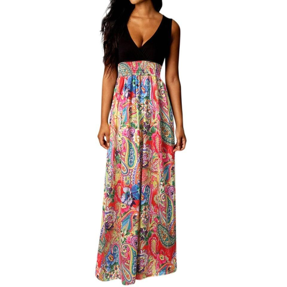 49164b6732c27d 2019 Maxi Dress Women Summer Beach Long Party Floral Long Dress Super  Quality Robe Femme Jurk Hot Sale Cute Red Party Dresses Sundress On Sale  From ...