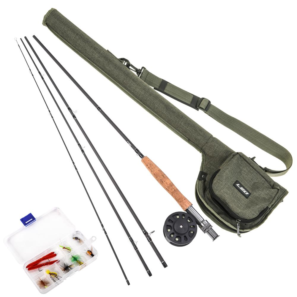 Lixada 9' canna da pesca e bobina insieme combinato con Carry Bag 10 Mosche completa Starter Package Kit Pesca