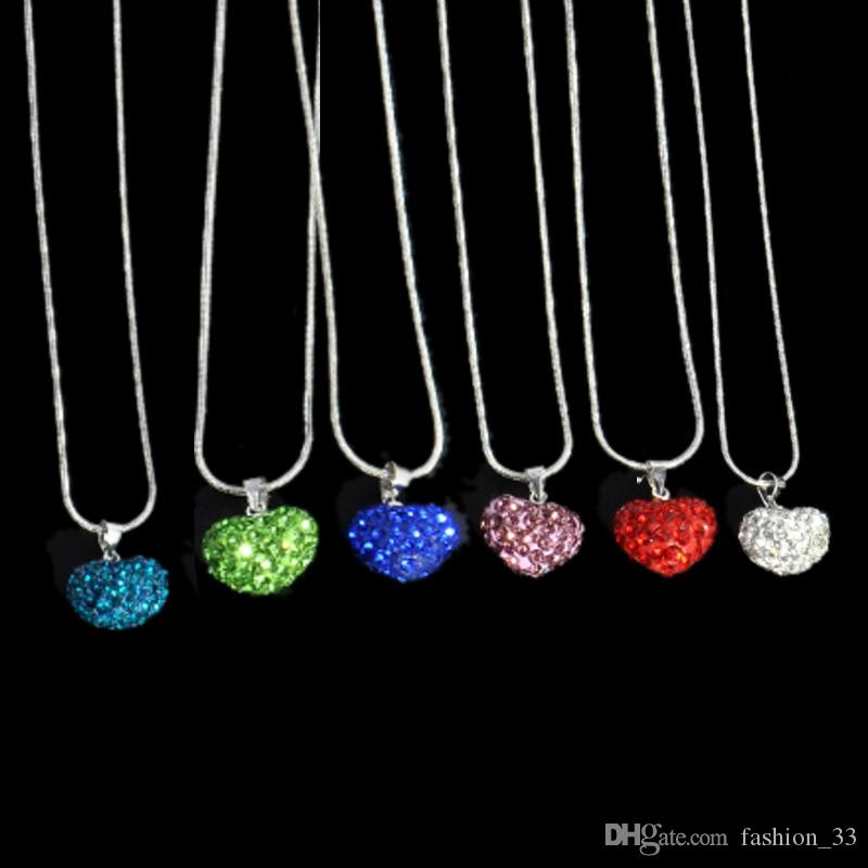 love heart New Bottles And Love Crystal Pendant Necklace Cheap Diamond Alloy Necklace Sweater Necklace Locket Jewelry YD0084
