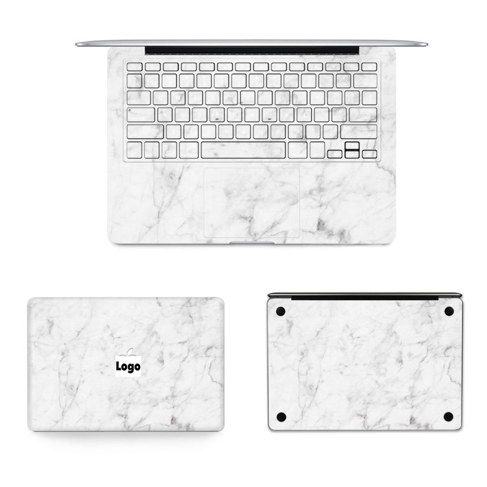 Gooyiyo - New 4 In 1 Set Laptop Full Sticker Marble Skin Vinyl Decal For Macbook Air Pro Retina 11 12 13 15 Sticker & Gift Film T6190615