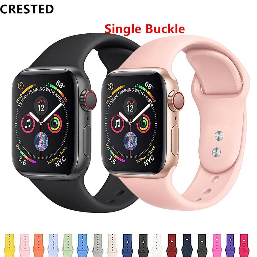 7360512f9 CRESTED Strap Band Apple Watch 4 3 Iwatch Band 42mm 44mm 38mm 40mm Pulseira  Correa Bracelet Watch Accessories 21 Alligator Watch Band Cheap Watch  Brands ...