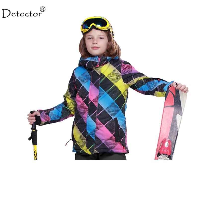 07484f6125ba Detector Kids Winter Clothing Set Skiing Jacket Snow Jacket 20 30 ...