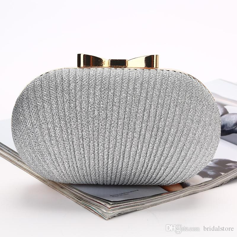 c2b4dda57b Bling Gold Silver Bridal Hand Bags Fashion Style Women Evening Formal Party  Clutch Crossbody Bag Hand Bags For Bride Sparkle Bridal Bags Black Leather  ...