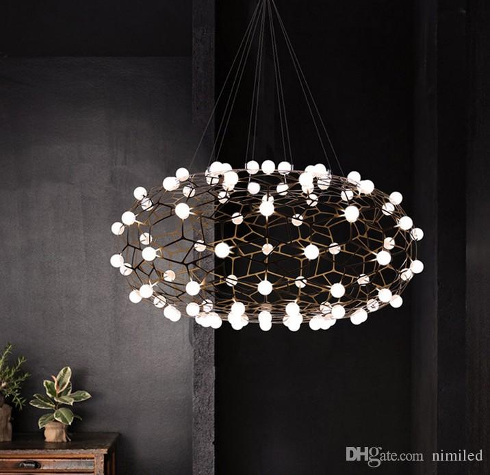 modern led firefly flower pendant light cloud suspension lamp for rh dhgate com