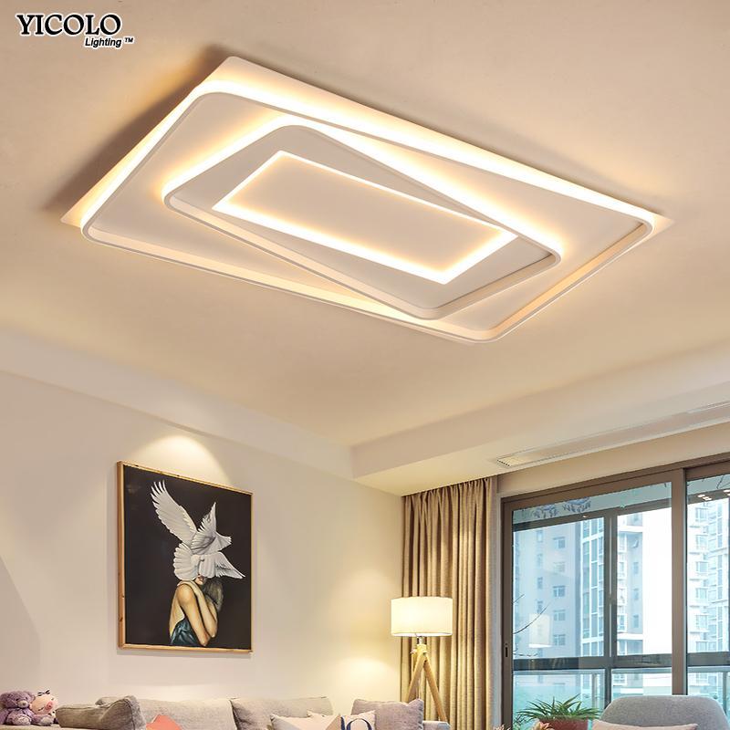 Großhandel Moderne LED Kronleuchter Beleuchtung Acryl Board Für Wohnzimmer  Schlafzimmer Licht Lüster Mit Fernbedienung Beleuchtung Leuchten Von Hogon,  ...