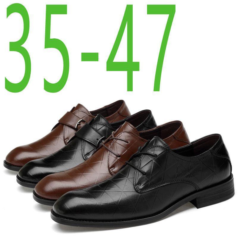 6c6a91541 Sexy2019 Homem Afiado Sapatos de Casamento Genuíno Couro ...