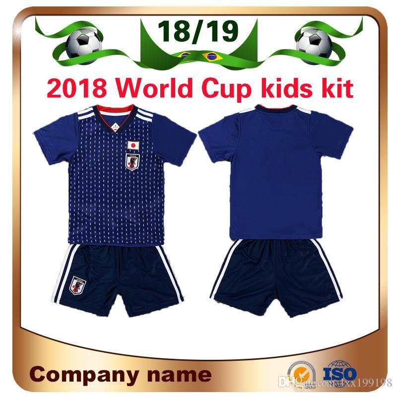 2018 World Cup Japan Kids Kit Soccer Jersey Home 4 For Honda 9 Okazaki 10  Kagawa Soccer Shirts National Team Children Custom Football Unifor UK 2019  From ... 511dcdc30