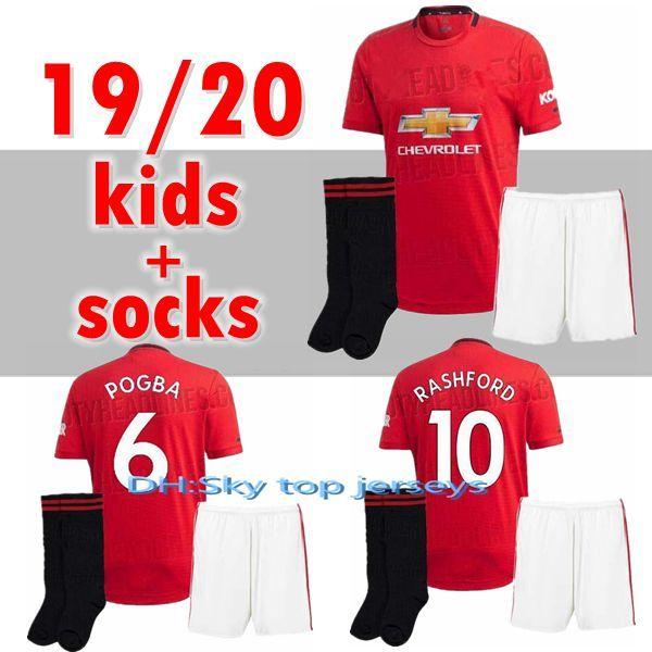 timeless design 5407a 0df90 new Manchester soccer Jersey kids kit 19 20 United POGBA ALEXIS MATA LUKAKU  FRED RASHFORD Matic Adult kit shirt 2019 2020 shirt