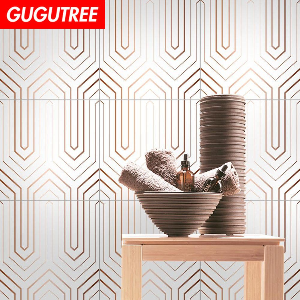 Decorate home 3D ceramic tile cartoon art wall sticker decoration Decals mural painting Removable Decor Wallpaper G-2501