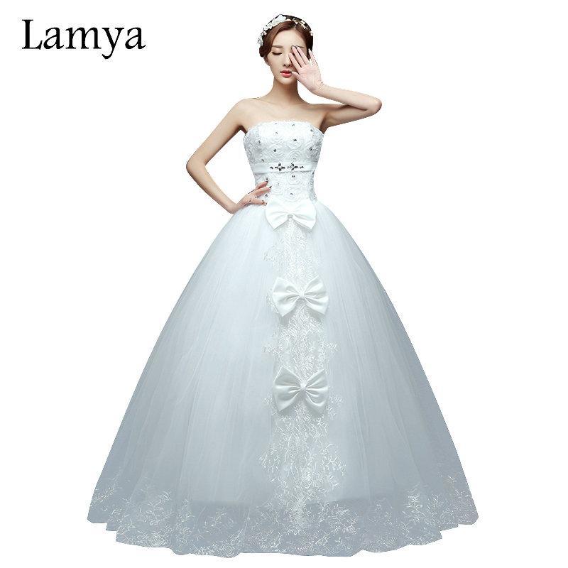 614548fe0c wholesale Rose Flower Strapless Wedding Dress 2019 Cheap Bridal Gown Plus  Size Dresses casamento robe de mariage