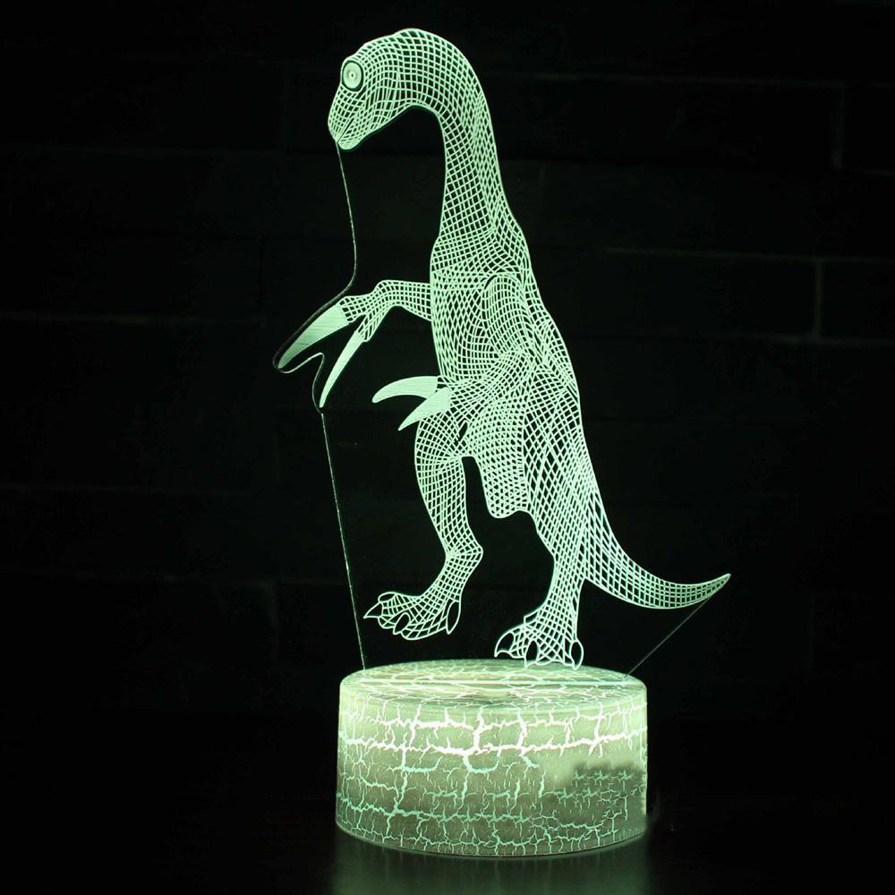Usb 3d Décor Cadeau Chevet Gallimimus 7 Sommeil Modélisation Led Créatif Dinosaure Lumière Table Chambre Lampe Bébé Coloré Nuit Visuel TKJ3ulF1c