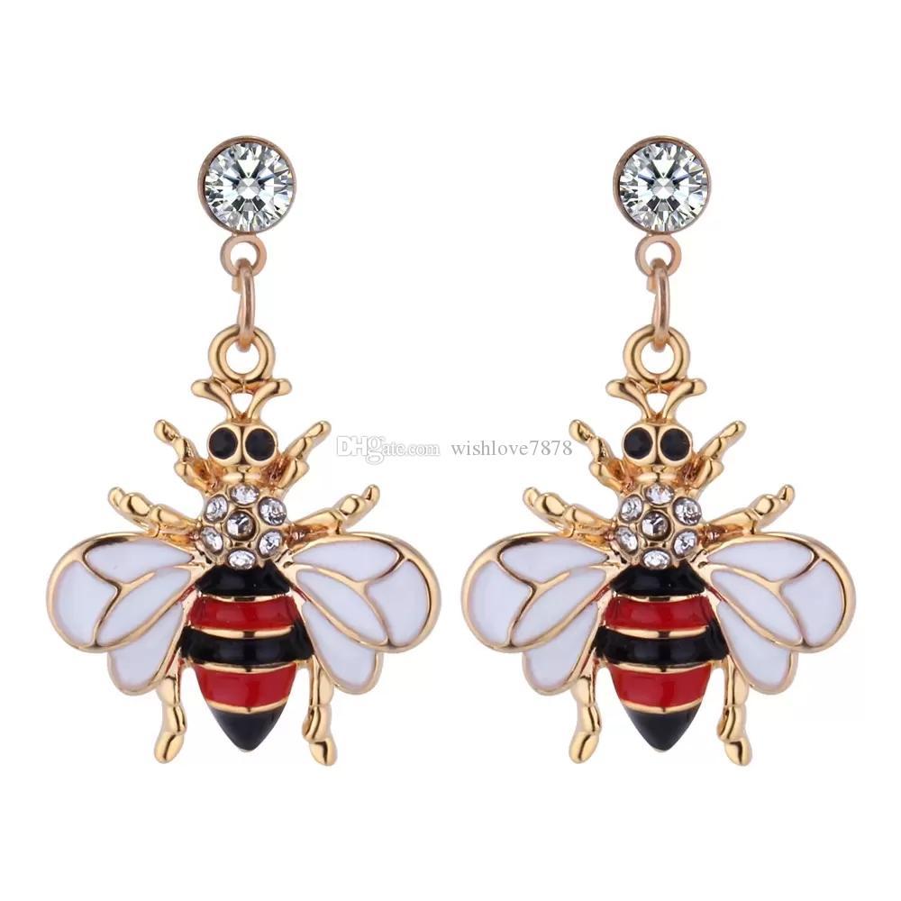 82af8ea9f Fashion Women Cute Crystal Pearl Bee Pendant Earrings Animal Bee Dangle  Crystal Earring Ear Cuff Earrings Bee Earrings Online with $1.99/Pair on ...