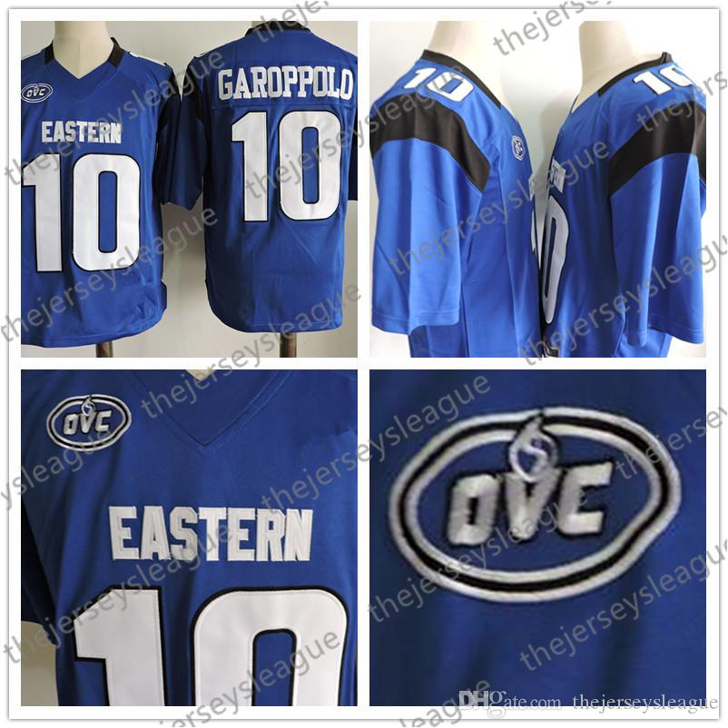 new style 9e44a 81909 Eastern Illinois Panthers Hot Sale Discount #10 Jimmy Garoppolo Blue  Stitched FCS NCAA College Jerseys S-3XL