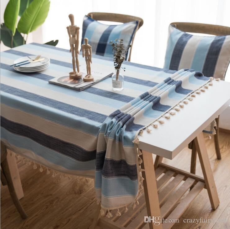 mediterranean style linen artistic tablecloth with tassel waterproof rh dhgate com