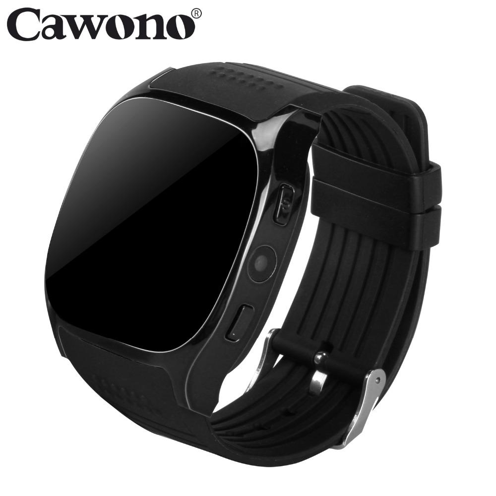 1ce35bc9768 Relojes De Colores Cawono T8 Bluetooth Smart Watch Soporte De Tarjeta SIM  TF Con Cámara Reloj Deportivo Reproductor De Música Para Apple Android VS  M26 DZ09 ...