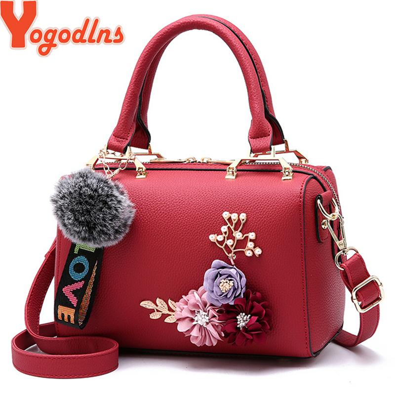 Yogodlns Flowers Women S Tote Leather Clutch Bag Small Ladies Handbags  Brand Women Messenger Bags Sac A Main Femme Cheap Purses Handbags For Women  From ... 2b593d9ed42d6