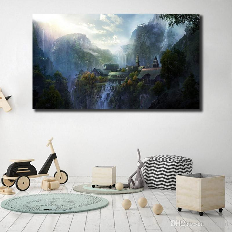 2019 lord of the rings live movie poster painting on canvas bedroom rh dhgate com