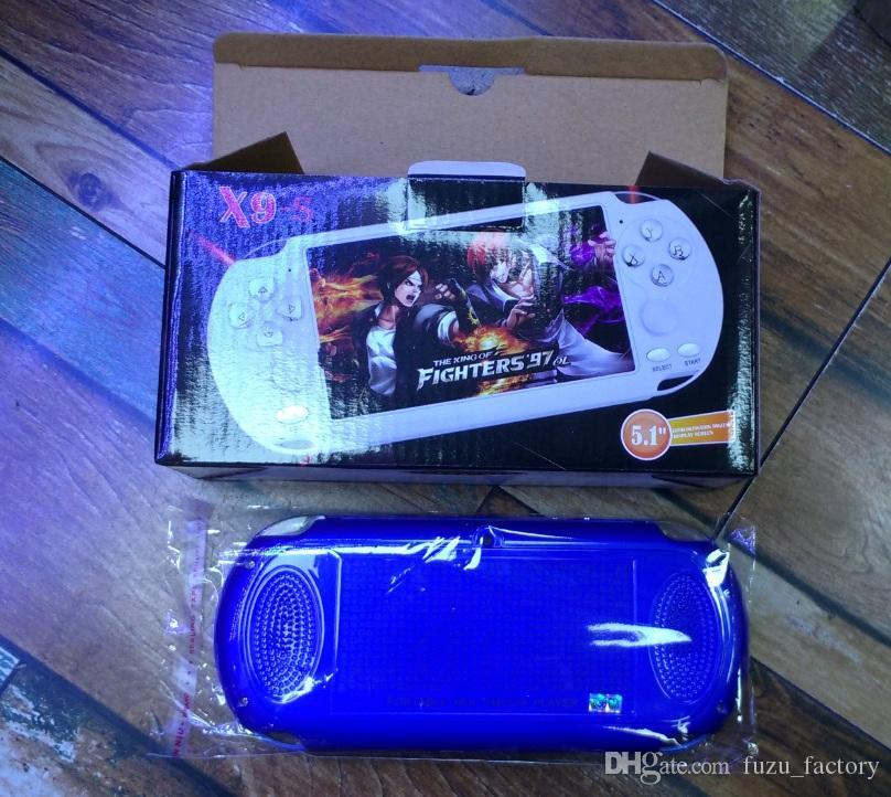 X9-S portable Game Player 5.1 pouces grand écran portable Console de jeu MP4 Lecteur MP3 avec caméra TV Out TF vidéo pour GBA FC TOP qualité du jeu