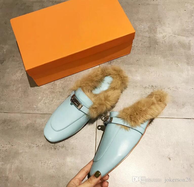 876f19f1a Men Designer Slippers Princetown Fur Slippers Fur Mules Flats Chain Ladies  Casual Shoes Women Mens Loafers Muller Slipper Shoes Furry Slides Thigh  High ...