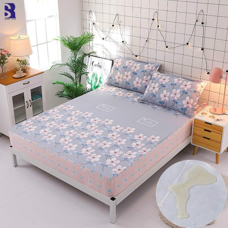 sunnyrain cotton waterproof bed sheet set king size fitted bed sheet rh dhgate com