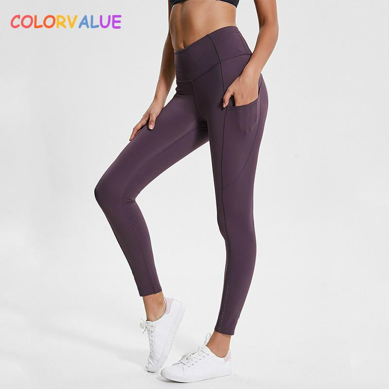 96873962a0337 value Reflective High Waist Workout Sport Leggings Women Squatproof Soft  Nylon Fitness Gym Tights Yoga Pants With Pocket C19042401 From Shen07, ...