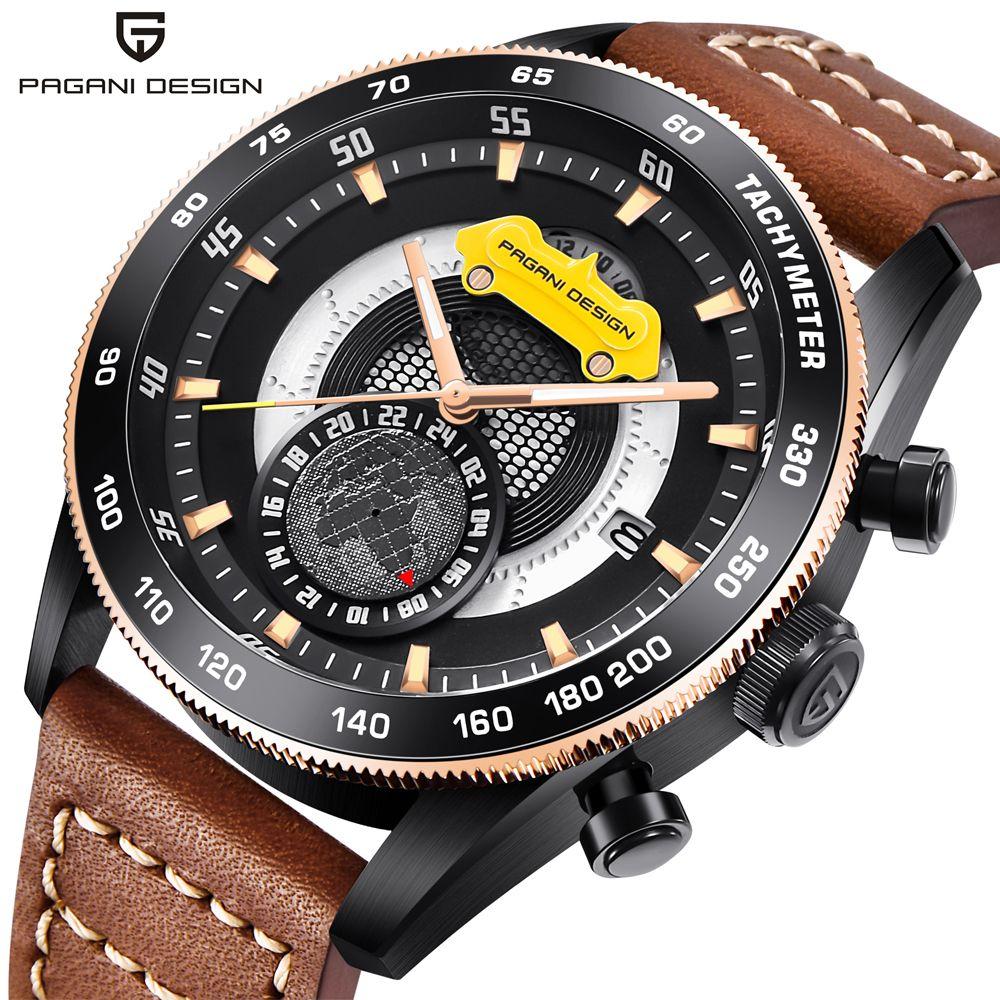 Кварцевые водонепроницаемые мужские часы