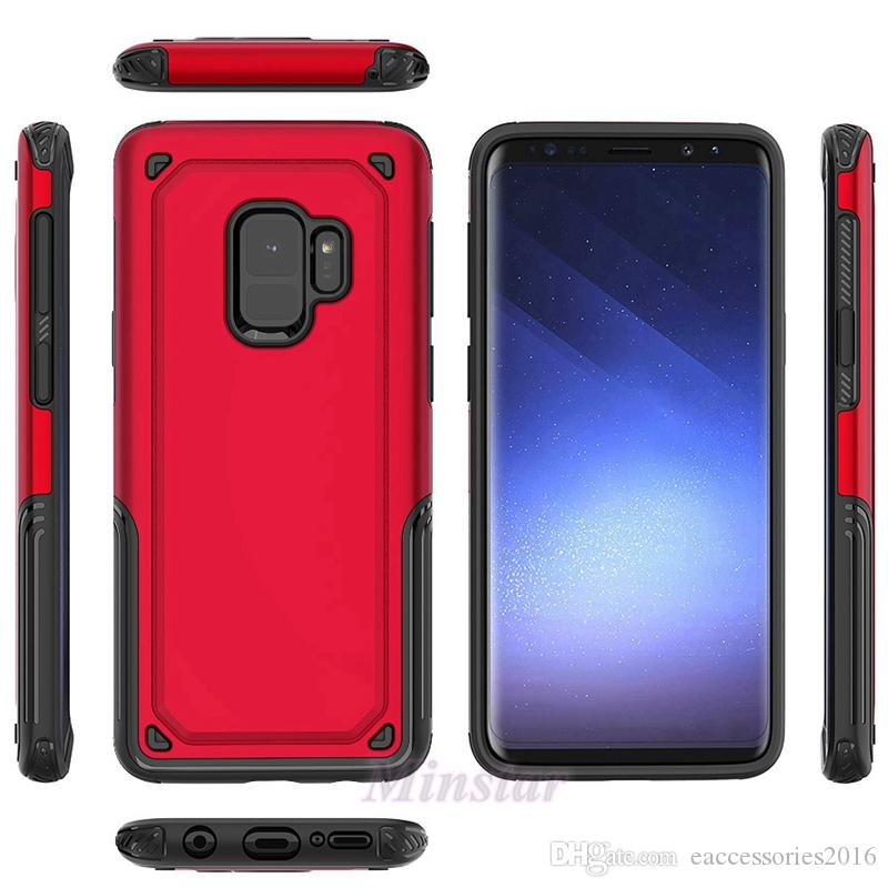 wholesale dealer 98c0a c8d88 Hybird Phone Case for Samsung A6 2018 Metropcs Models Galaxy J7 Neo A8  2018, Samsung A8 Plus 2018 Protector Cover Case