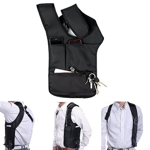 c30b6cced978 Wholesale- Travel Safe Anti-Theft Hidden Underarm Shoulder Bag Double-Bag  Design Pouch