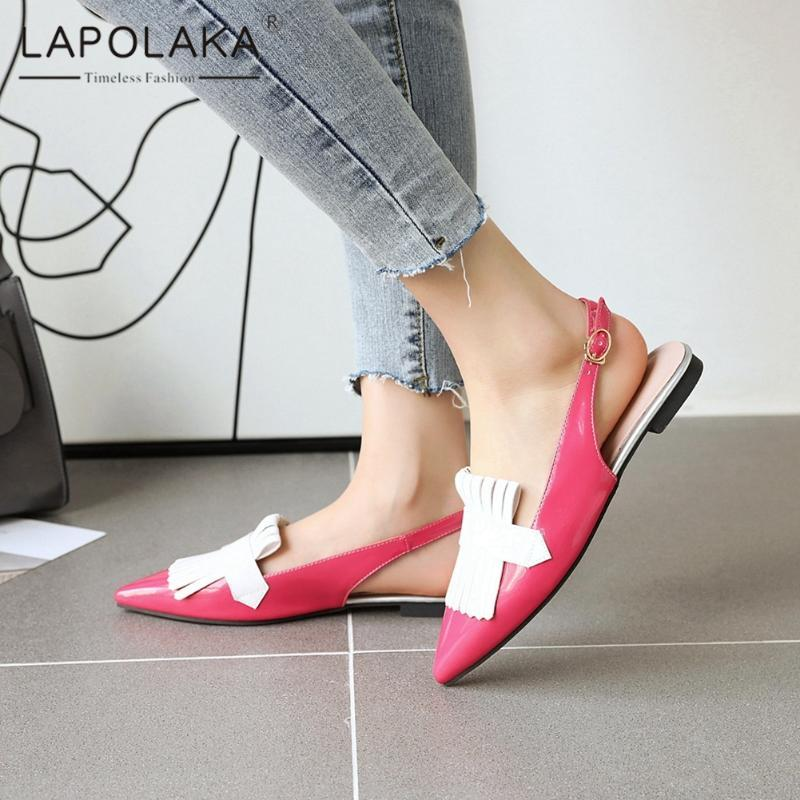 Lapolaka New Arrivals 2020 Square Heels Summer Sandals Woman Shoes Buckle Strap Mixed Colors Comfortable Shoes Women Sandals