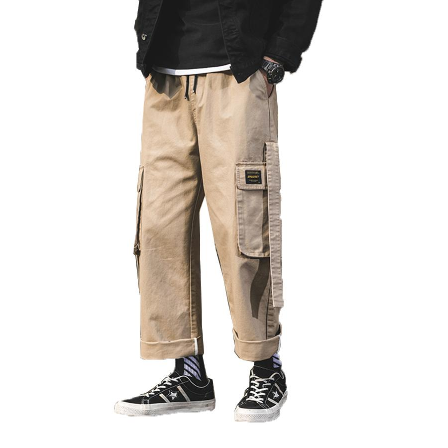Acquista Harem Cargo Pants Uomo Streetwear Hip Hop Giappone Pantaloni Stile  Maschile Khaki Pantaloni Larghi Allentati Uomo Casual Modis Drop Shipping A  ... c84fd22c93de
