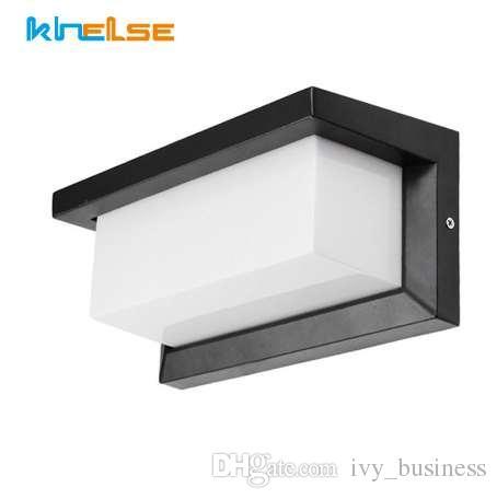 Illuminazione da esterno Lampade da parete moderne impermeabili Alluminio  E27 Presa da giardino Cortile Portico Decora 85-265V LED lampadine