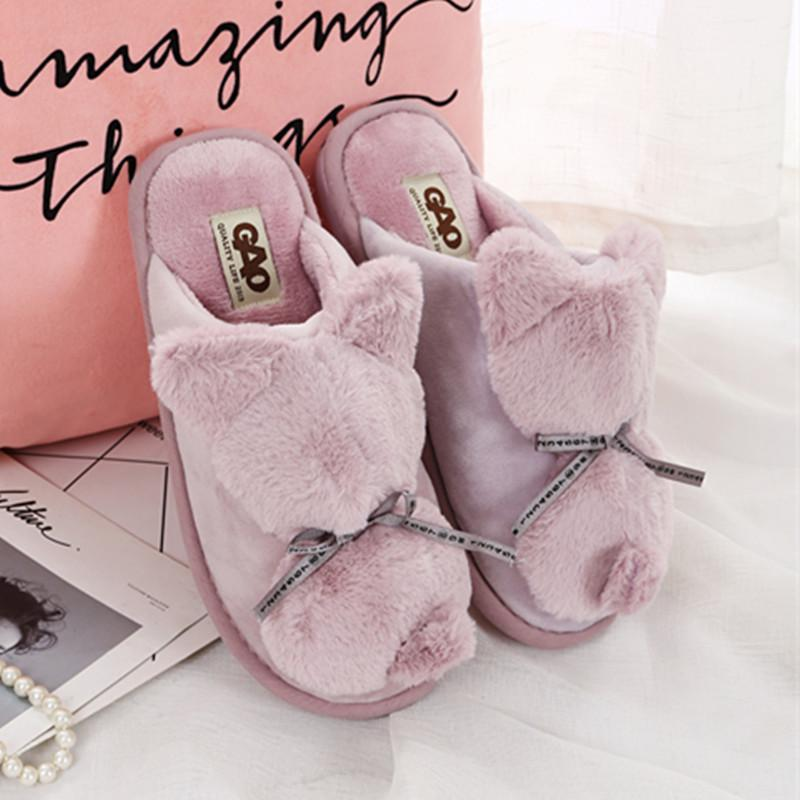 5c4aa3151b35 PROWOW Slippers Ladies Slip On Sliders Fluffy Faux Fur Flat Size 36~41 2018  New Casual Slipper Flip Flop Sandal Womens Mid Calf Boots Leather Boots For  ...