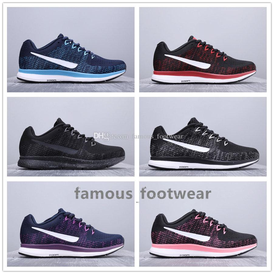 new arrival 9f411 affbb New Mens Zoom Pegasus 34 Lunar Running shoes breathable womens black White  Shoes Cusual 34s Vomero kniting vamp sports Sneakers